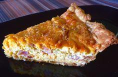 Frumpy Crust Ham and Cheddar Quiche