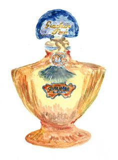 """Guerlain — Shalimar My very favorite perfume! The first """"oriental"""" perfume, with strong hints of jasmine Antique Perfume Bottles, Vintage Bottles, Parfum Guerlain, Oriental Perfumes, Dior Perfume, First Perfume, Beautiful Perfume, Bottle Art, Sunset Palette"""