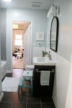 beautiful bathroom, love the colors! from pepperdesignblog.com