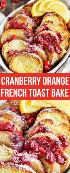 Wake up to this delicious Cranberry Orange French Toast Bake, a festive overnigh. - Food - Wake up to this delicious Cranberry Orange French Toast Bake, a festive overnight breakfast cassero - Overnight Breakfast Casserole, Breakfast Bake, Brunch Casserole, Morning Breakfast, Breakfast Ideas, Vegetarian Breakfast Casserole, Christmas Breakfast Casserole, Breakfast And Brunch, Casserole Recipes