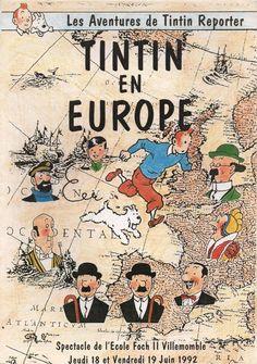 Les Aventures de Tintin - Album Imaginaire - Tintin en Europe