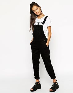 ASOS 90s Style Overalls in Black