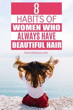 Are you wondering how to get healthy, shiny hair? Here's a quick guide of 8 easy habits that'll make healthy hair routine so much more effective. You'll learn about the best healthy hair tips and tricks, tools, and products! Healthy Hair Remedies, Healthy Hair Tips, Home Remedies For Hair, Diy Hair Treatment, Skin Treatments, Hair Growth Tips, Shiny Hair, Beauty Recipe, All Things Beauty