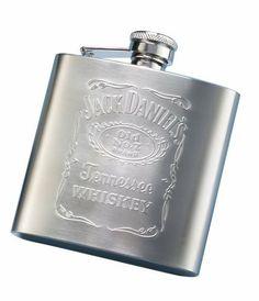 Jack Daniel?s Embossed Matte Flask by Jack Daniels Licenced barware. $23.39