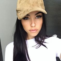 Tan brown suede baseball cap New never worn. Adjustable to fit any head size. As seen on Madison beer and Kylie Jenner. Super cute and versatile. No brand Brandy Melville Accessories Hats