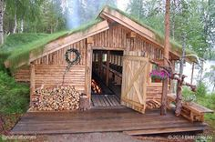 Longhouse cabin, a different concept in log cabins!