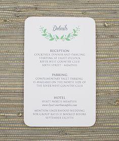 French Damask Wedding Reception Card Template Damasks Wedding