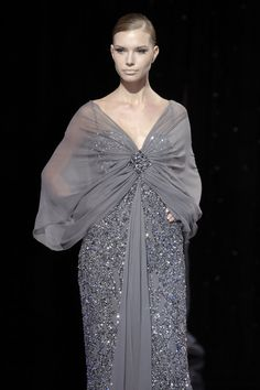 Elie Saab at Couture Fall 2007 - Runway Photos Elie Saab Fall, Shades Of Grey, Runway, Gowns, Pictures, Beautiful, Haute Couture, Cat Walk, Vestidos
