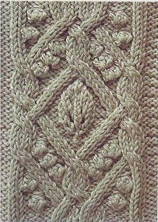Free Knitting Patterns: Bobbles and cable