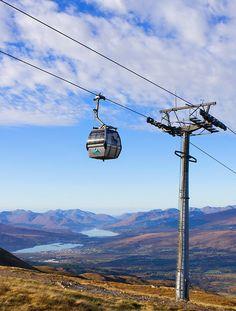 Nevis Range Mountain Gondola in Scotland Scotland Holidays, Scotland Uk, Scotland Travel, Fort William Scotland, Places To Travel, Places To See, Ben Nevis, Scottish Highlands, Highlands Scotland