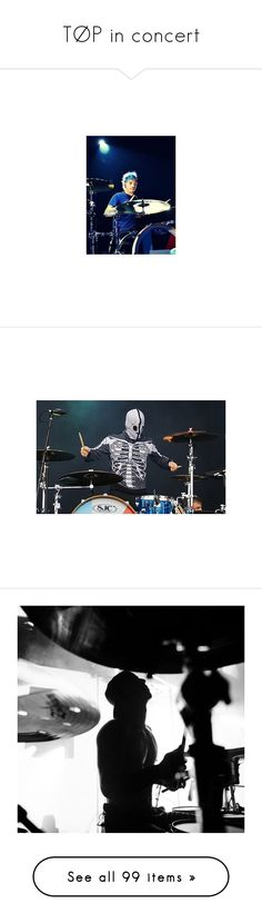 """""""TØP in concert"""" by iamgl2002 ❤ liked on Polyvore featuring twenty one pilots, people, backgrounds, bands - twenty one pilots, photos, tyler joseph, pictures, tops, t-shirts and purple top"""