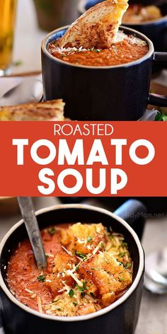 A rich bold pot of Roasted Tomato Soup can be on your dinner table in 30 minutes This recipe relies on canned tomatoes to keep it easy and smoked paprika and cayenne pepp. Slow Cooker Turkey, Slow Cooker Chili, Healthy Slow Cooker, Healthy Soup, Roasted Tomato Soup, Tomato Soup Recipes, Roasted Tomatoes, Chili Recipes, Stuffed Peppers