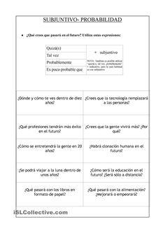Presente de Subjuntivo- Probabilidad