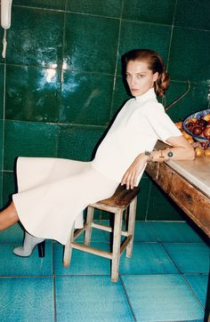 Daria Werbowy by Juergen Teller for Céline