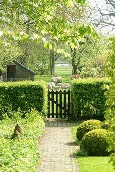 close connection to the farm. The Farm, Farm Gardens, Outdoor Gardens, Landscape Design, Garden Design, Country Fences, English Country Gardens, Green Life, Garden Gates