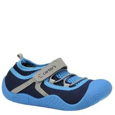 Carter's Boys' Assaulb (Infant-Toddler) Carter's. $19.95. Fabric upper. manmade sole. Let him make a splash in this comfy water-friendly shoe. TPR outsole. Hook and loop closure. fabric. Whole sizes only, half sizes order next size up