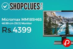 Shopclues is offering 45% off on Micromax MM185H65 46.99 cm (18.5) Monitor 45% off at Rs.4399. The Micromax 18.5 MM185H65 Monitor is the perfect addition to your PC. This efficient monitor has a massive screen that provides you wide viewing angles. It comes equipped with a 1366 x 768 HD resolution that delivers sharp picture quality and excellent visuals.   http://www.paisebachaoindia.com/micromax-mm185h65-46-99-cm-18-5-monitor-45-off-at-rs-4399-shopclues/