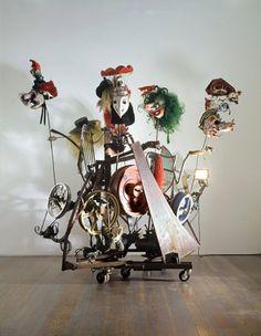 Jean Tinguely, né le 22 mai 1925 à Fribourg et mort le 30 août 1991  à Berne, est un artiste plasticien suisse.  http://www.tinguely.ch
