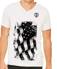 American Flag V-Neck by Just Daddy