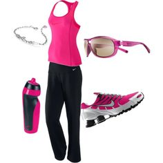 exercise outfit, except I cannot wear Nike. Otherwise...LOVE