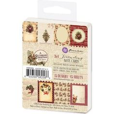 Prima > A Victorian Christmas > A Victorian Christmas Journaling 3 x 4 Notecards - Prima - PRE ORDER: A Cherry On Top X  2