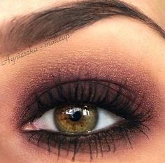 Smokey dramatic charcoal slate gray eye