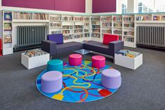 Bright children's library mixes old and new in this heritage library