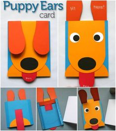 This Peek-A-Boo puppy pop up greeting card is a really fun idea for a gift delivery. You or any recipient will get happy with the smiling puppy face while playing with this card. And it's a kids friendly crafts, too. What you need to do is to print out the template, cut and glue each parts together. Supplies you will need: Letter sized sheets of white, blue, yellow, orange and red card stock Scraps of white and black paper Tacky Glue Scissors and/or craft knife Circle punches in 1 inch and…