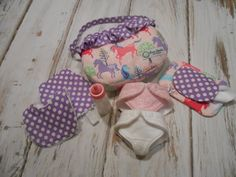Just Like Mommy Glitter Horses in Pink Diaper Bag by LimeSewda