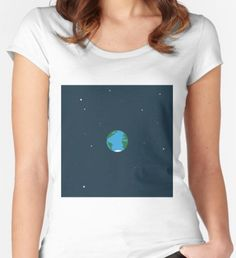 Minimalistic Earth Women's Fitted Scoop T-Shirt Shirt Designs, Minimalist, Earth, T Shirts For Women, Things To Sell, Color, Tops, Style, Swag