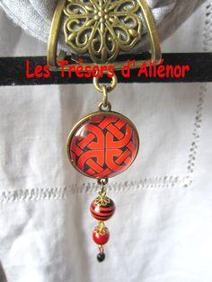 Bijou de Foulard dans les Tons Rouge et noir , dans un Mariage Magnifique, : Boucles d'oreille par les-tresors-d-alienor