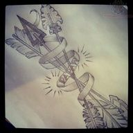 Image detail for -Arrow and Banner Tattoo Design