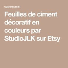 Feuilles de ciment décoratif en couleurs par StudioJLK sur Etsy
