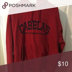 Cabelas large red navy sweatshirt Smoke-free home. 🚭 same day shipping! 📦 see all my other listings & positive feedback! 🎀 Have a great day! ❤️ Cabela's Tops Sweatshirts & Hoodies