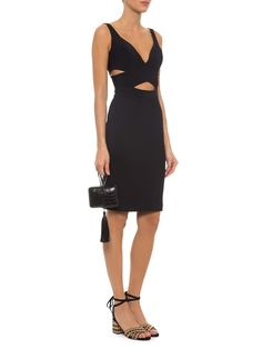 Vestido Decote V E Recorte Na Cintura - Pat Bo - Preto - Shop2gether 1656,00