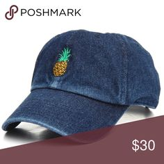 6018b5907cc New Pineapple denim jean dad hat NEW! The Pineapple Dad Cap by KBETHOS  features