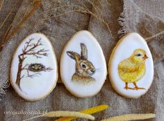 Wielkanocne ciasteczka budyniowe (ręcznie malowane) | Oryginalny smak