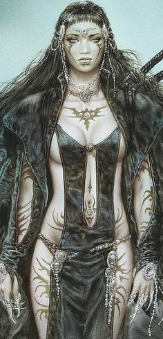 Luis royo (detail) fantasy art in 2019 sztuka cyfrowa, postaci fantasy, szt Anime Art Fantasy, Dark Fantasy Art, Fantasy Girl, Chica Fantasy, Fantasy Kunst, Fantasy Women, Fantasy Artwork, Boris Vallejo, Anime Warrior