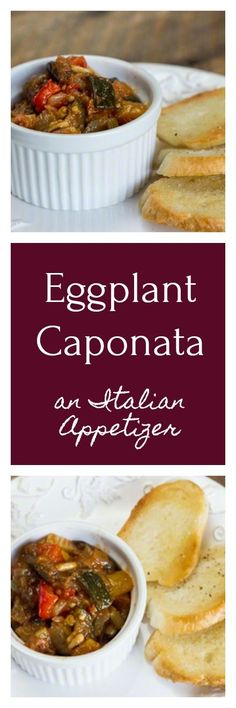 A traditional Italian appetizer you can make in advance, made of eggplant and other vegetables, simmered and served over crostini. Absolutely delicious!!!