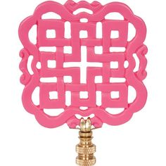 Give an understated lamp a bold update with this eye-catching finial, showcasing an openwork geometric design and a hot pink finish. ...