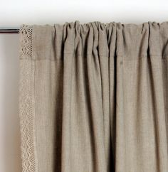 Lace Linen curtain Custom length Window curtains by NordicStyle White Linen Curtains, Boho Curtains, Cotton Curtains, Curtains With Blinds, Window Curtains, Outdoor Drapes, Drapery Designs, White Paneling, Indian Home Decor