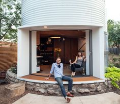 1950s Grain Silo Transformed into a Sleek and Cozy Home for Two