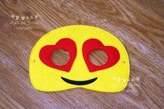 Emoji Inspired Masks Emotions Masks Mobile phone emoji Phone Emoji, Crying Emoji, Embroidery Thread, Cool Kids, Masks, Felt, Inspired, Party Ideas, Etsy