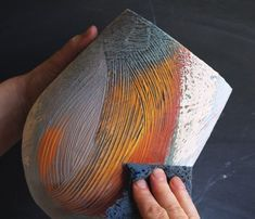 The Layered Surface - Ceramic Arts Network Glazing Techniques, Ceramic Techniques, Pottery Techniques, Painting Techniques, Slab Pottery, Ceramic Pottery, Pottery Art, Thrown Pottery, Ceramic Clay