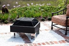 square fire pit.