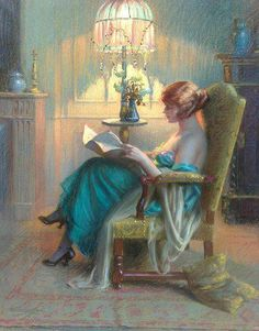 ✉ Biblio Beauties ✉ paintings of women reading letters & books -