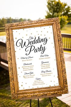 An elegant wedding party sign to welcome your guests on your special day! Personalized with your wedding party.  *PLEASE READ ALL INFORMATION BELOW