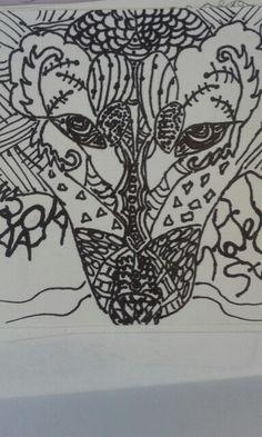 Wolf zetangle 9\25\14
