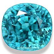 Blue Zircon - 4.15 carats at AJS Gems