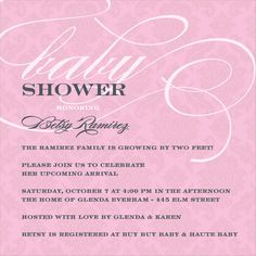 Simple Baby Shower Invite but Cute
